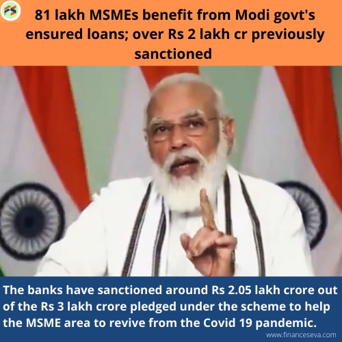 81 lakh MSMEs benefit from Modi govt's ensured loans over Rs 2 lakh cr previously sanctioned