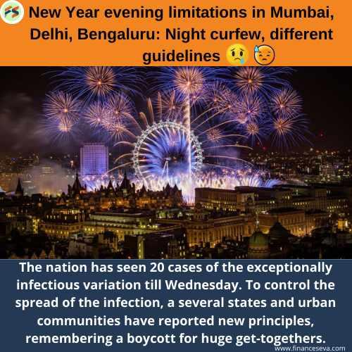 New Year evening limitations in Mumbai, Delhi, Bengaluru: Night curfew, different guidelines
