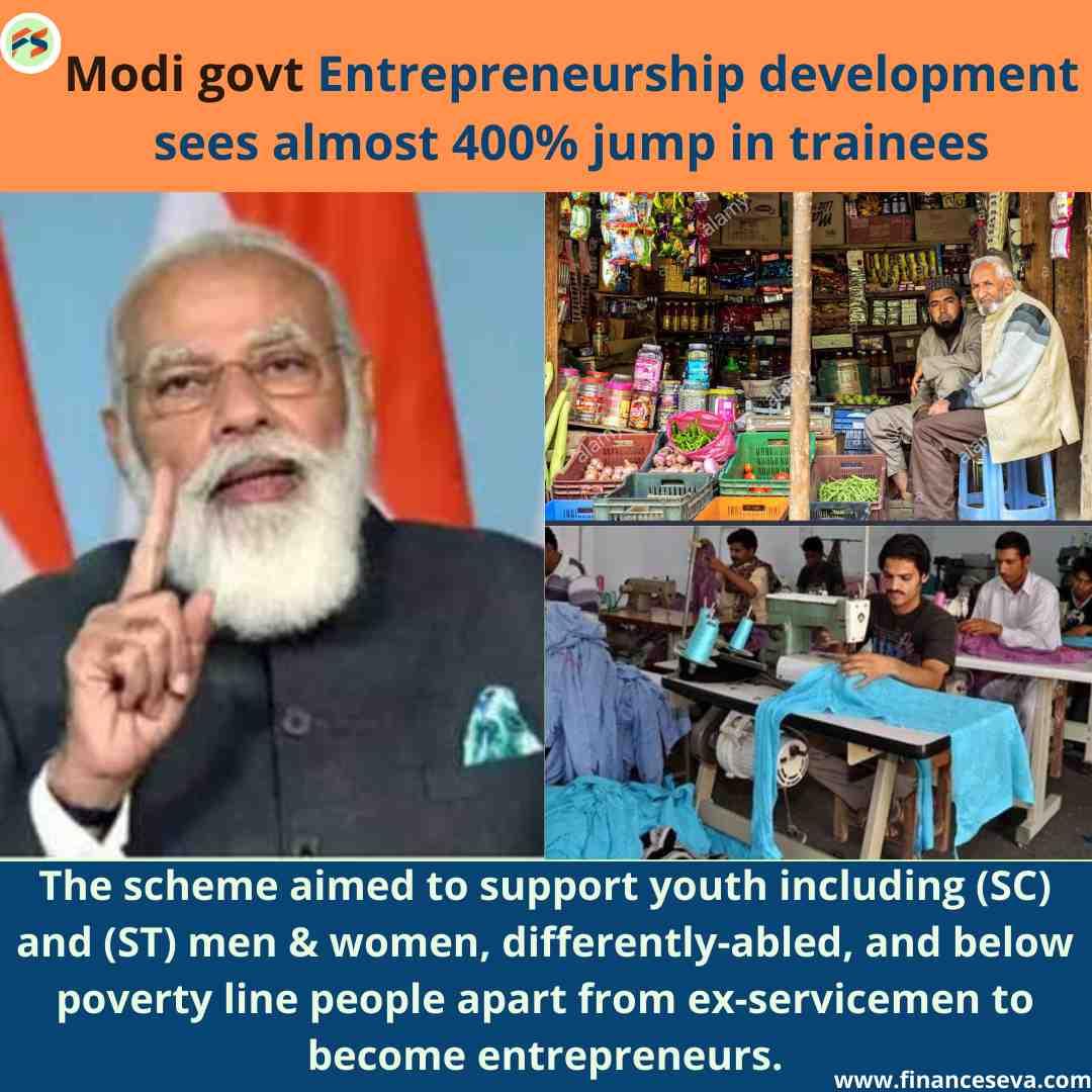 Modi govt Entrepreneurship development sees almost 400% jump in trainees