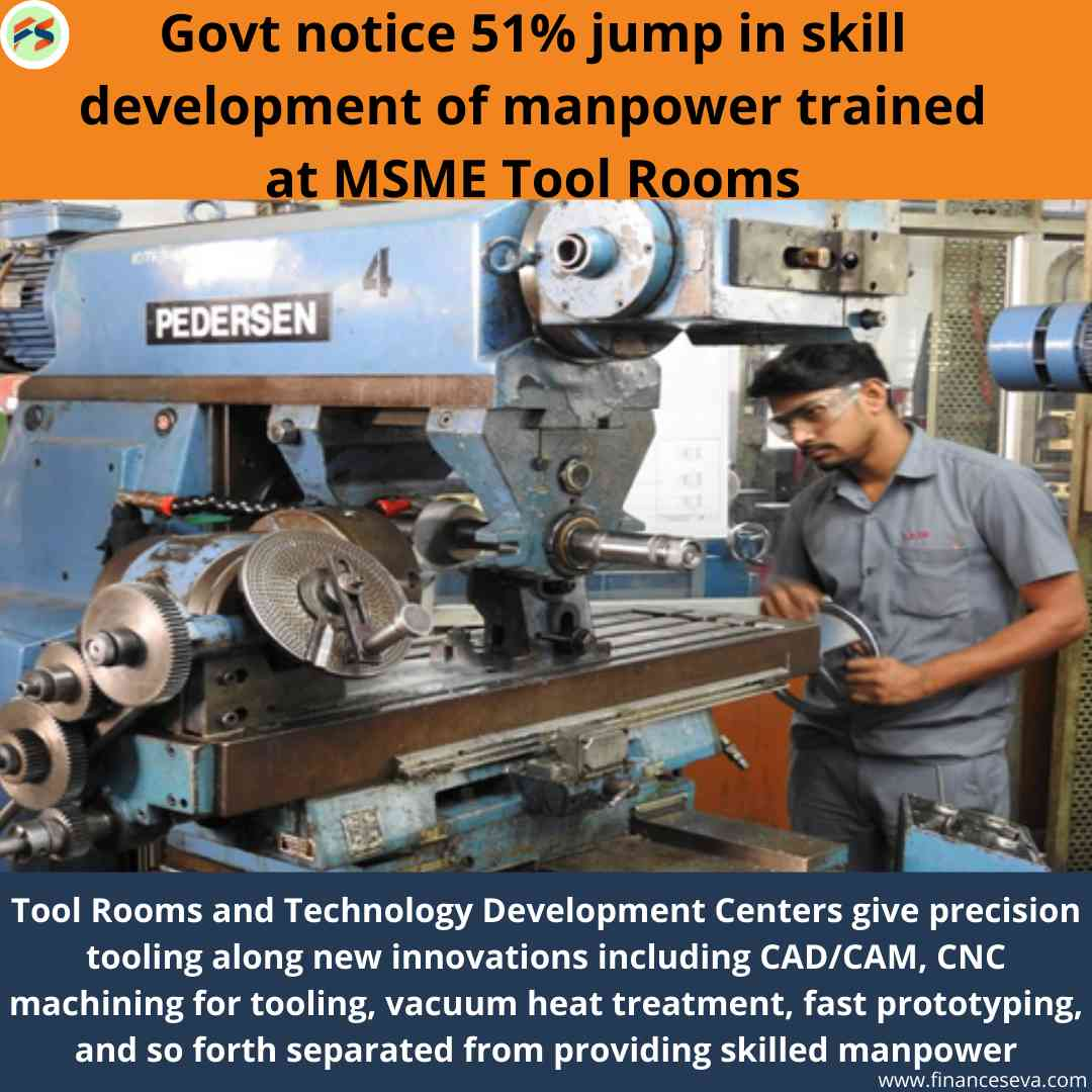 Govt Notice 51% jump in Skill Development of Manpower Trained at MSME Tool Rooms