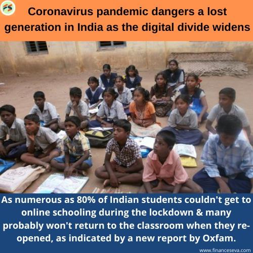 Coronavirus pandemic dangers a lost generation in India as the digital divide widens